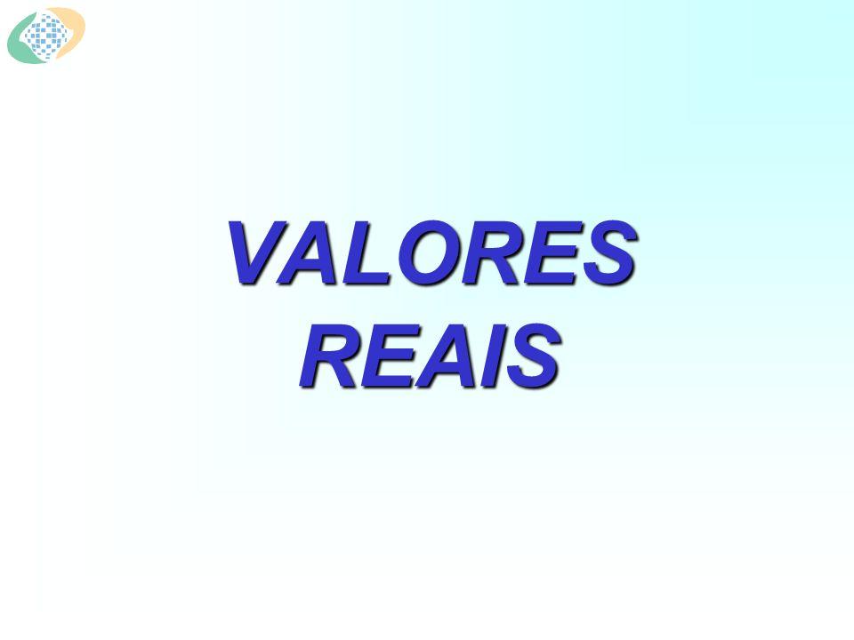 VALORES REAIS