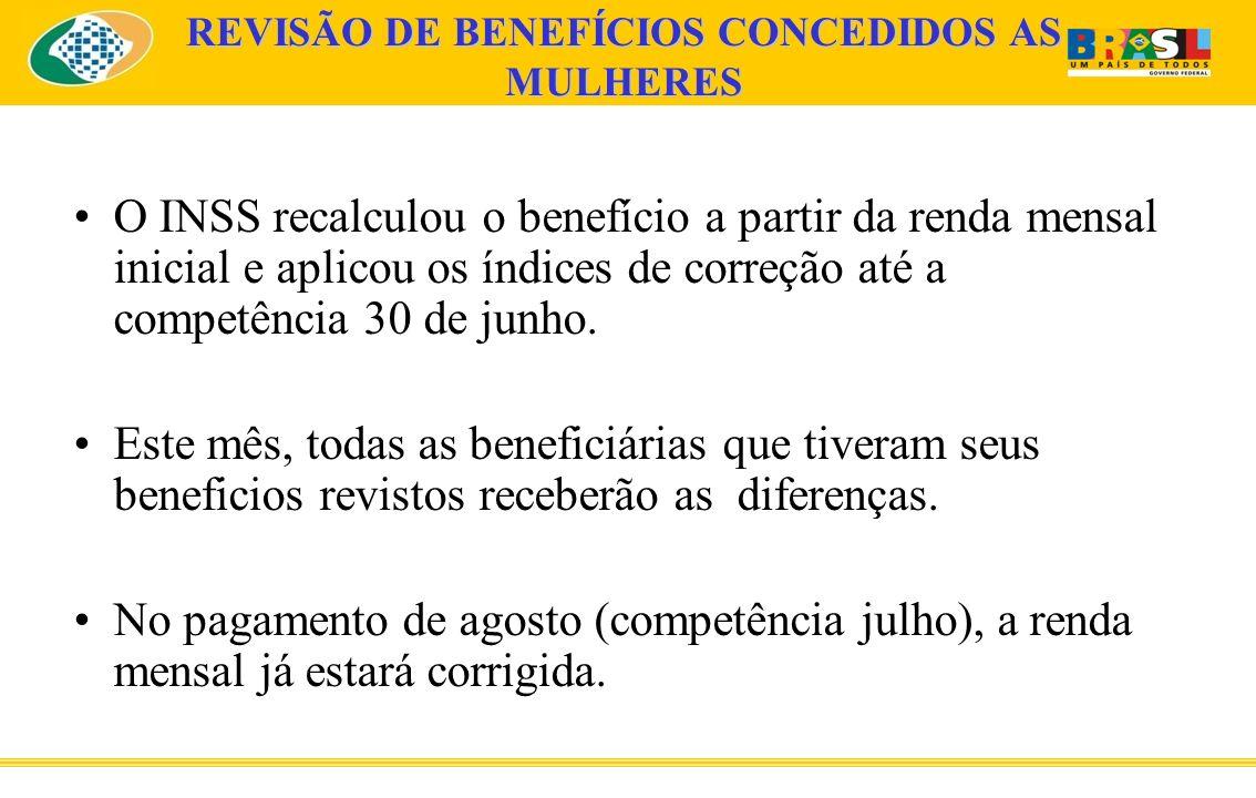 DIFERENÇAS A RECEBER A diferença a receber será individual e depende do salário que a beneficiária recebia na ativa, do tempo de contribuição e da data da aposentadoria.
