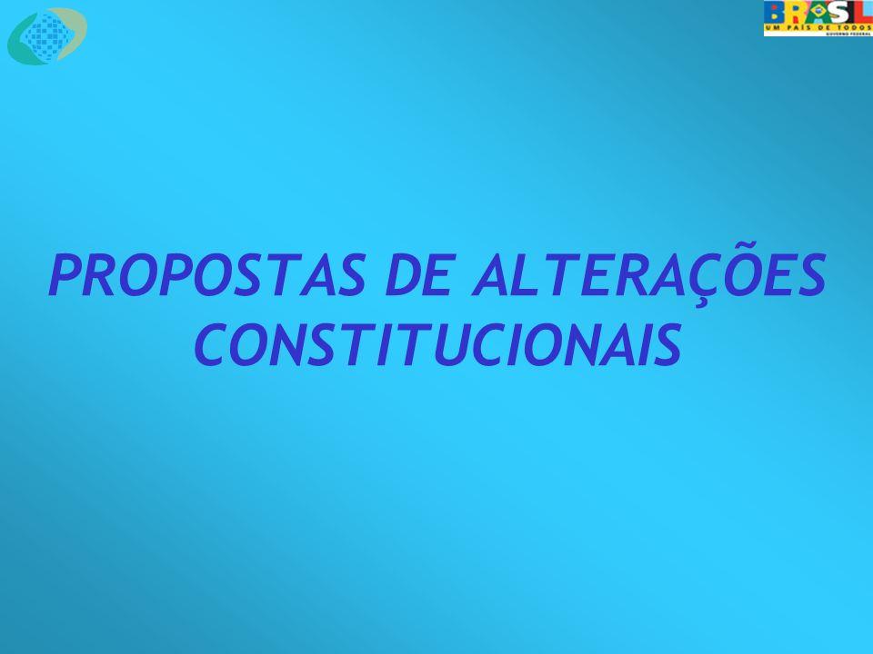 PROPOSTAS DE ALTERAÇÕES CONSTITUCIONAIS