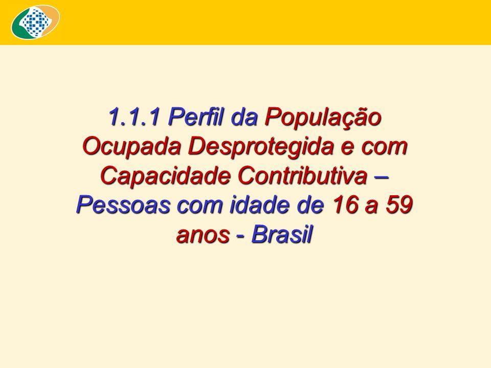 Proporção de Trabalhadores Ocupados (A) e Desprotegidos com Capacidade Contributiva (B) - 2006 - Proteção Social segundo Posição na Ocupação - 2006 (Inclusive Área Rural da Região Norte) Fonte: PNAD/IBGE – 2006.