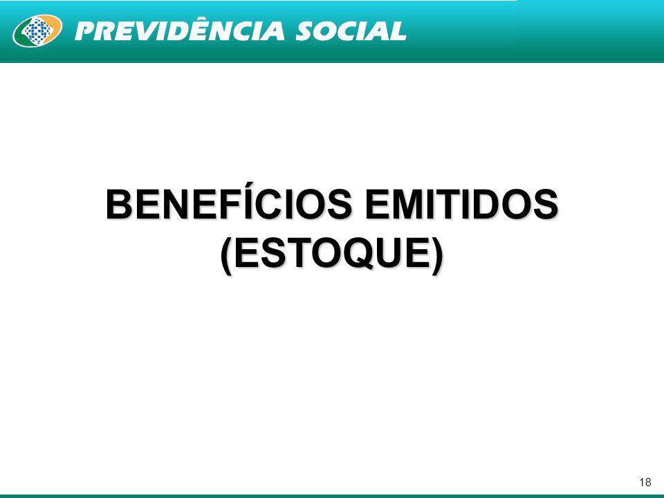18 BENEFÍCIOS EMITIDOS (ESTOQUE)