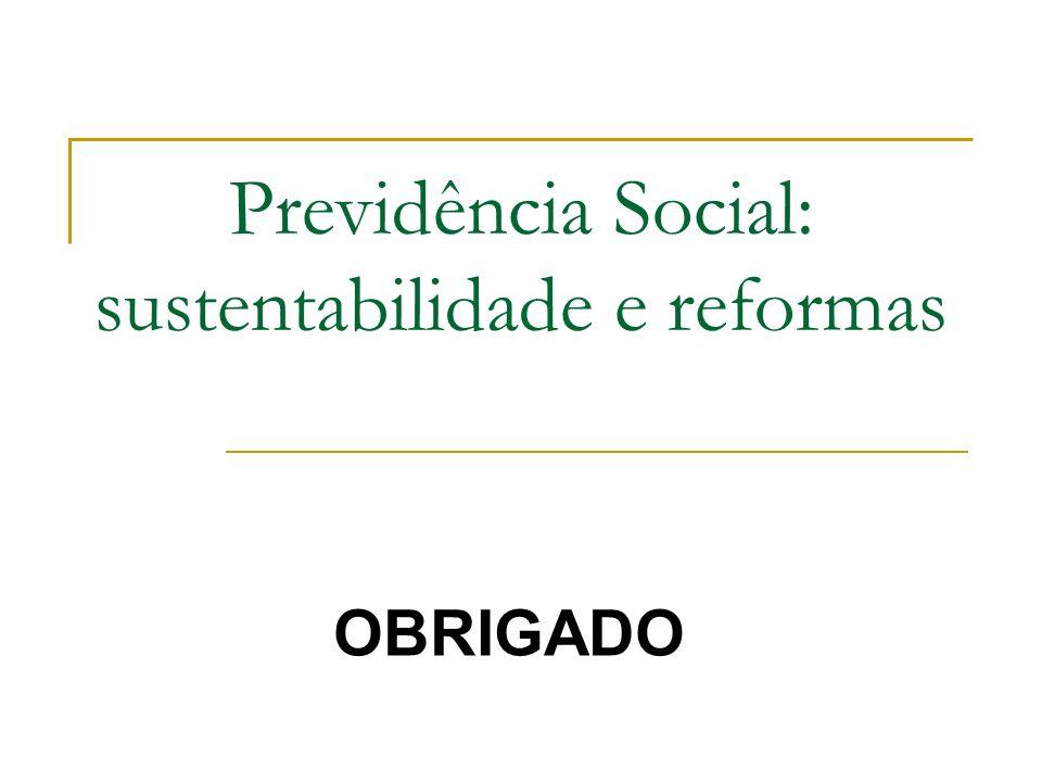 Previdência Social: sustentabilidade e reformas OBRIGADO