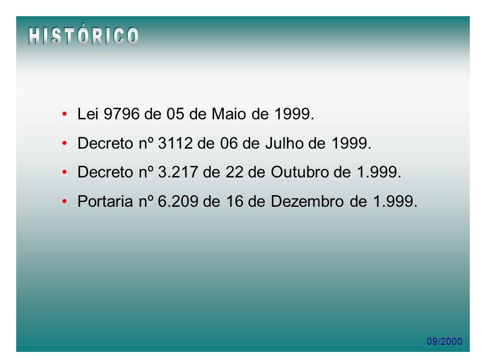 09/2000 Assinatura de Convênio com o MPAS Cadastramento como Regime Próprio no MPAS - Departamento de Regimes Próprios de Previdência no Serviço Público - DEPSP.