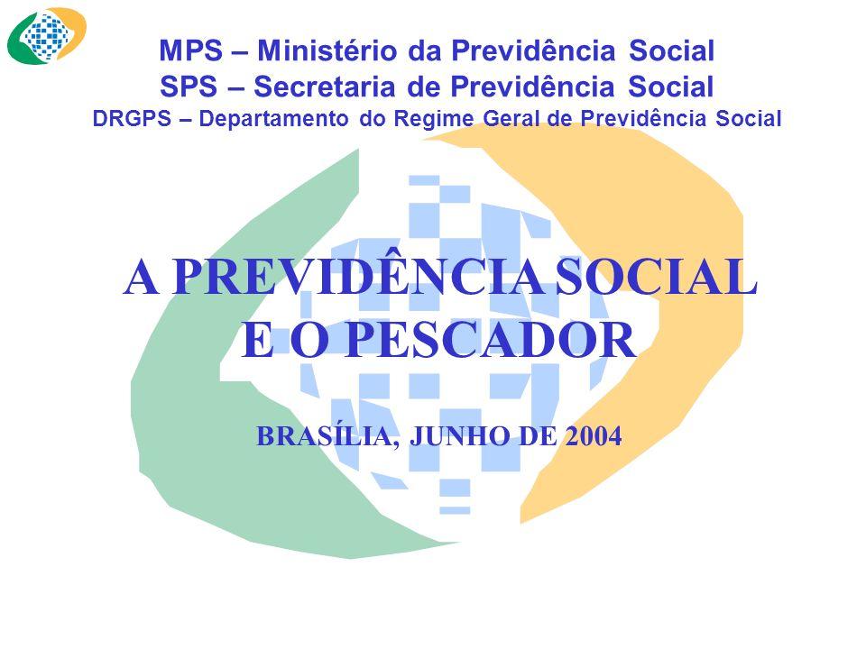 MPS – Ministério da Previdência Social SPS – Secretaria de Previdência Social DRGPS – Departamento do Regime Geral de Previdência Social A PREVIDÊNCIA