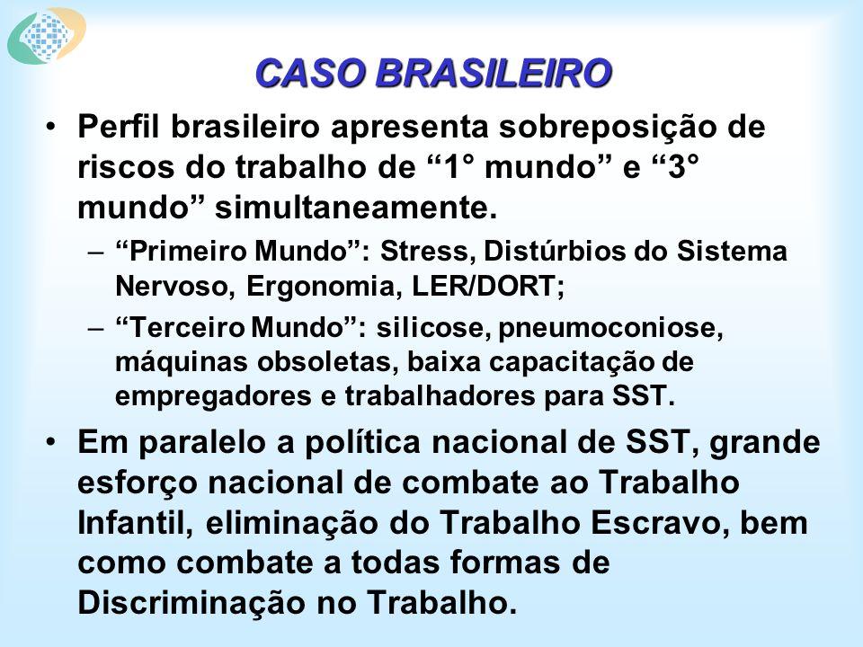 DADOS INÉDITOS DE ACIDENTES DE TRABALHO NO BRASIL - 2003 Fonte: AEPS 2003.