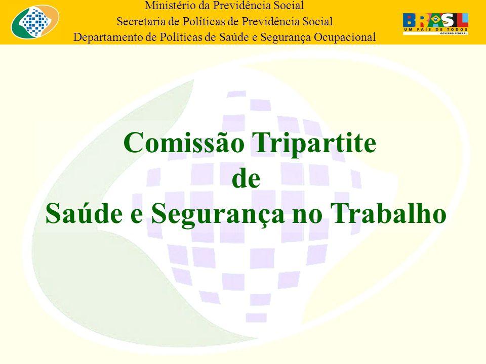Ministério da Previdência Social Secretaria de Políticas de Previdência Social Departamento de Políticas de Saúde e Segurança Ocupacional Comissão Tri