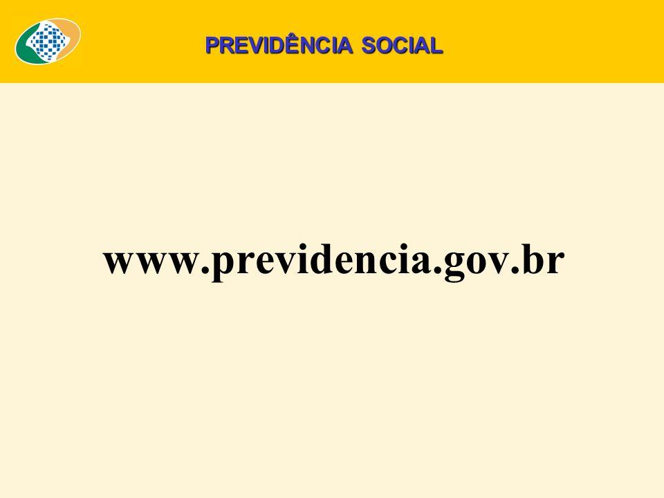 www.previdencia.gov.br PREVIDÊNCIA SOCIAL