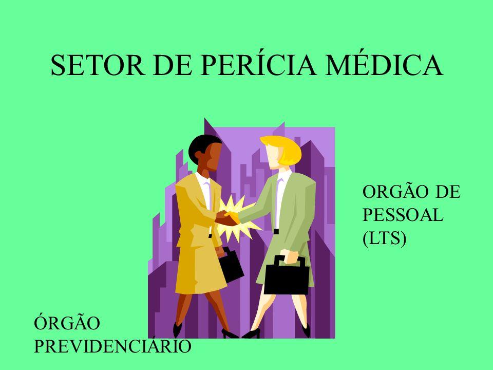 SETOR DE PERÍCIA MÉDICA ÓRGÃO PREVIDENCIÁRIO ORGÃO DE PESSOAL (LTS)