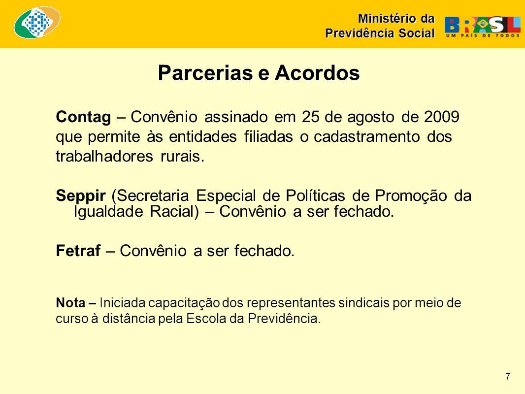 Contag – Convênio assinado em 25 de agosto de 2009 que permite às entidades filiadas o cadastramento dos trabalhadores rurais.