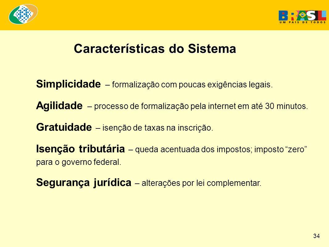 Simplicidade – formalização com poucas exigências legais.