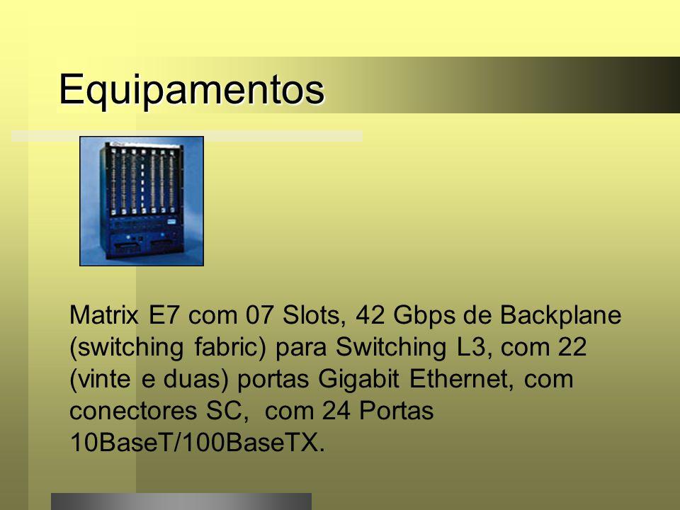 Equipamentos (46) Switches Enterasys VH2402S com 24 portas Portas 10BaseT/100Base TX