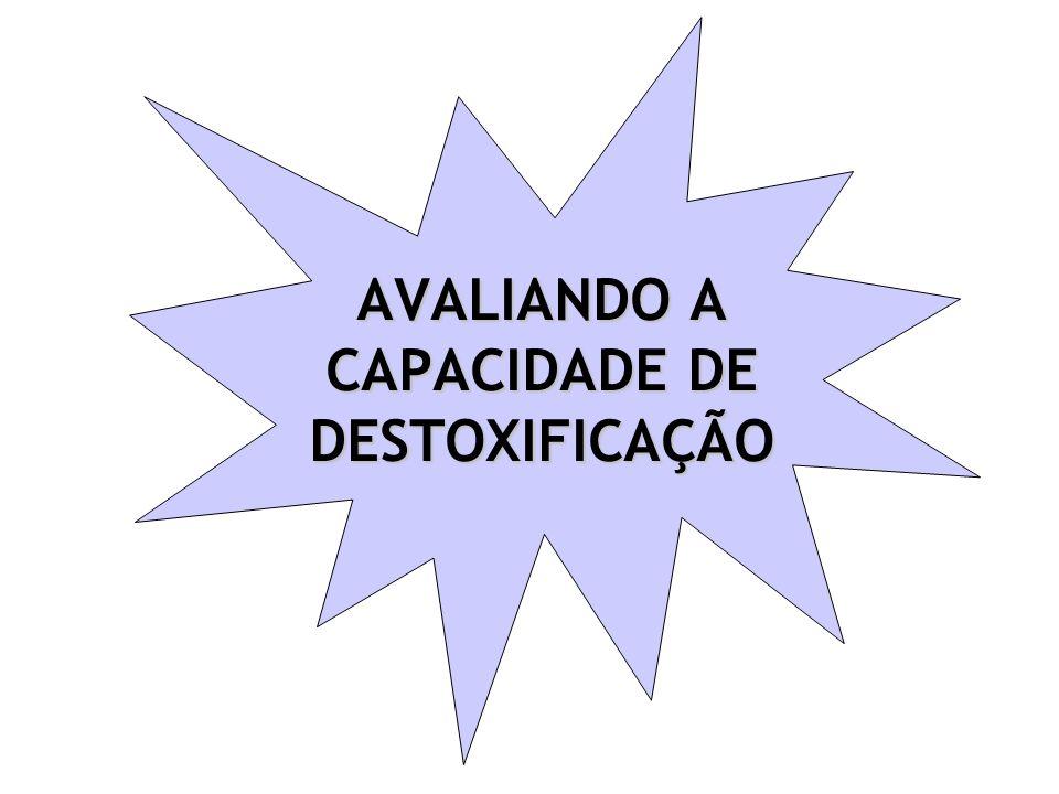 AVALIANDO A CAPACIDADE DE DESTOXIFICAÇÃO