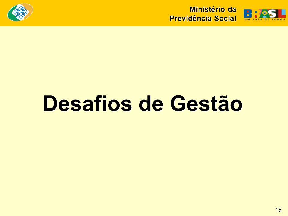 Desafios de Gestão Ministério da Previdência Social 15