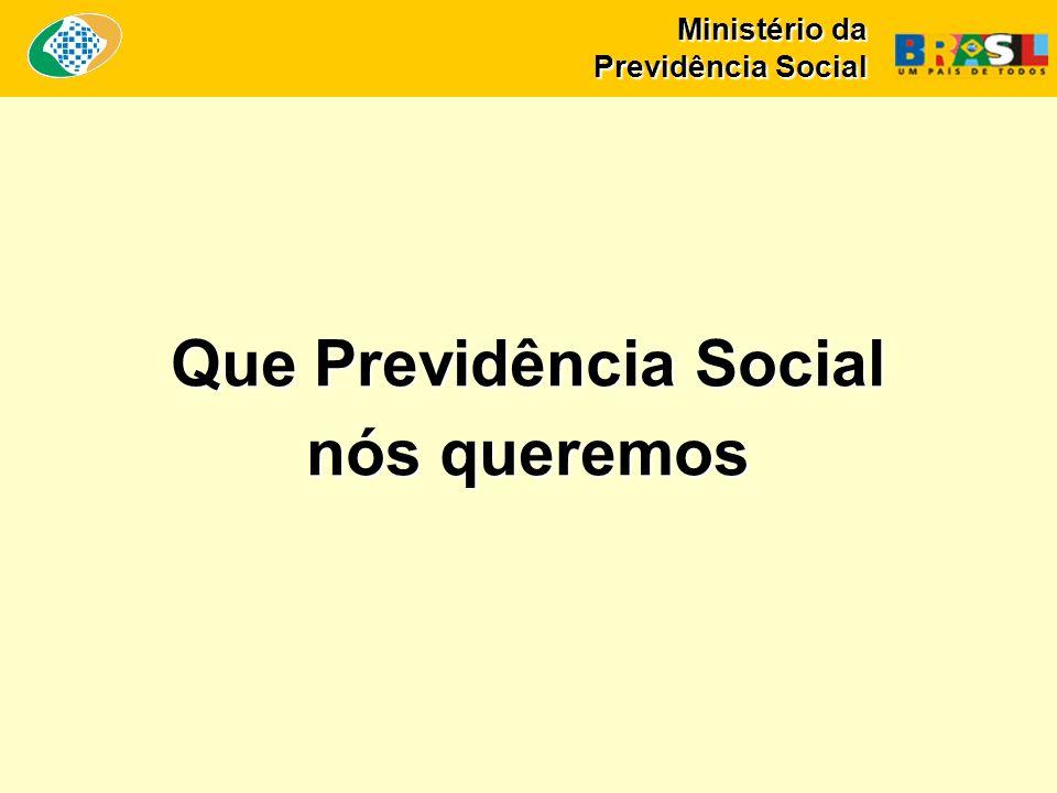 Ministério da Previdência Social Que Previdência Social nós queremos