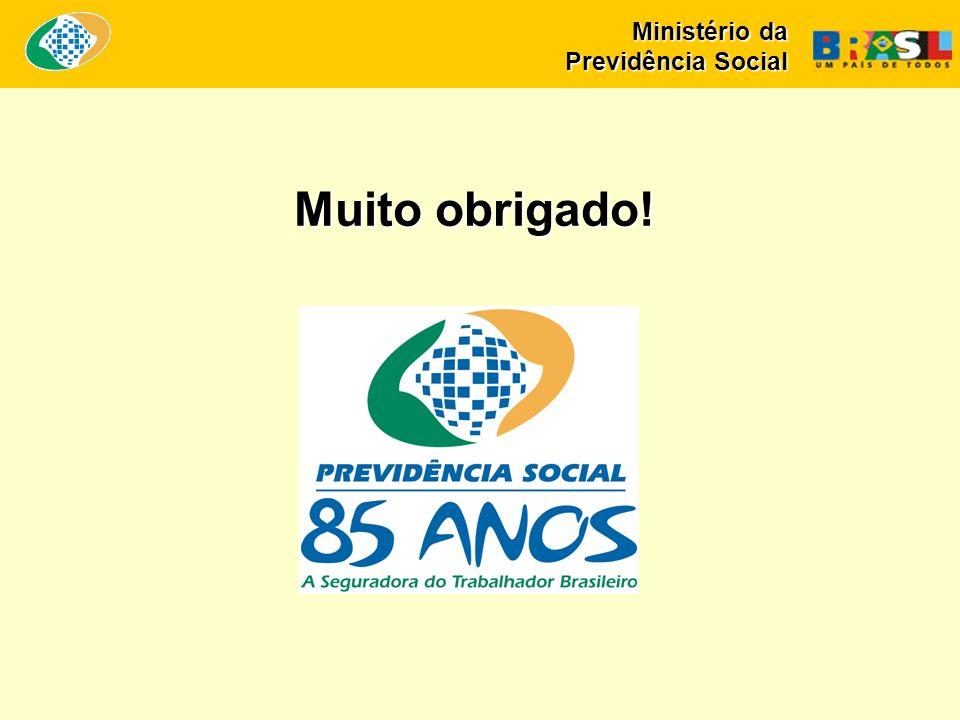 Muito obrigado! Ministério da Previdência Social