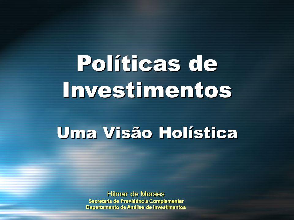 GESTÃO DE RISCOS Riscos: Sistêmico / De Crédito / De Mercado / Do Negócio / Operacional / Concentração Operacional / A Segregação de Funções / Conflito de Interesses e os Riscos Administrativos – Forma de Participação da EFPC no Investimento Falta de Liquidez = Risco de Crédito é preponderante Risco de Inadimplência: 1) Fluxo de Caixa 2) Obrigações Financeiras Riscos: Sistêmico / De Crédito / De Mercado / Do Negócio / Operacional / Concentração Operacional / A Segregação de Funções / Conflito de Interesses e os Riscos Administrativos – Forma de Participação da EFPC no Investimento Falta de Liquidez = Risco de Crédito é preponderante Risco de Inadimplência: 1) Fluxo de Caixa 2) Obrigações Financeiras