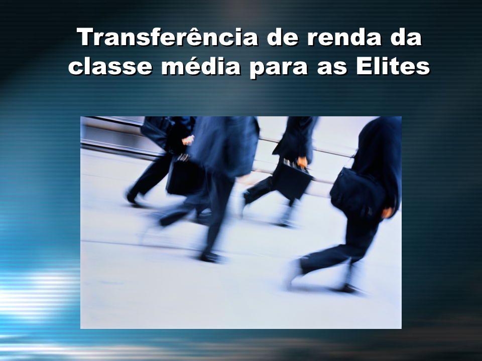 Transferência de renda da classe média para as Elites