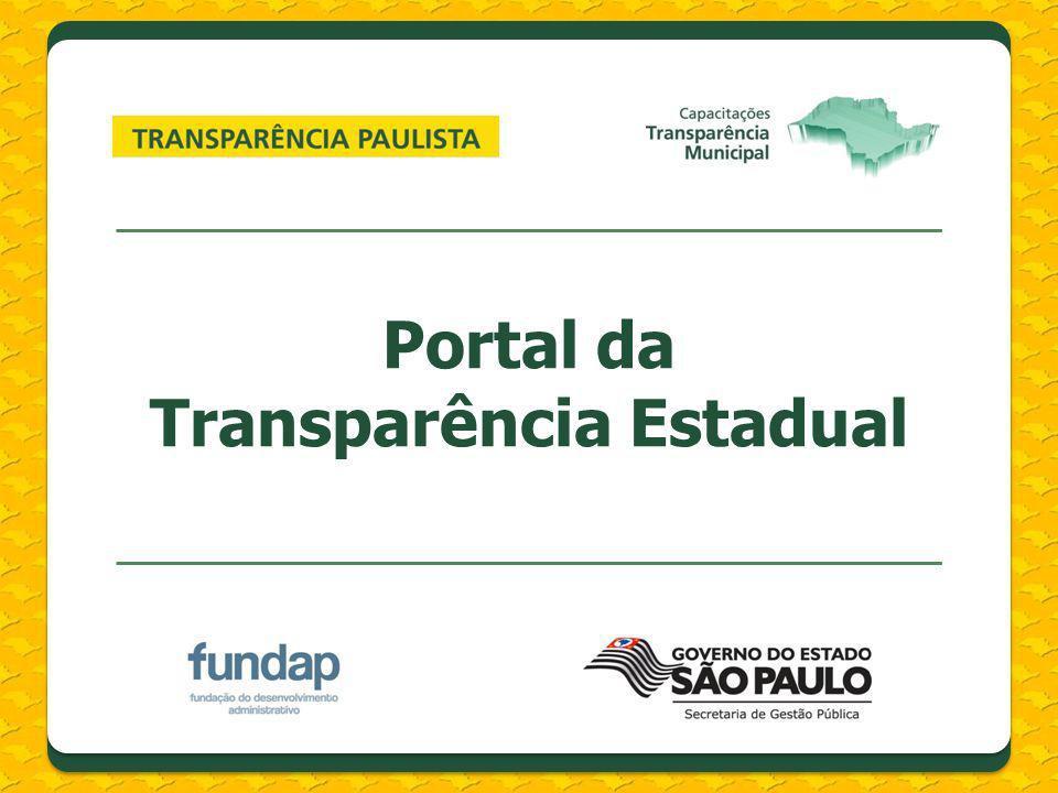 Portal da Transparência Estadual