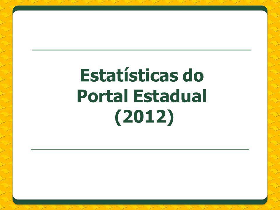 Estatísticas do Portal Estadual (2012)