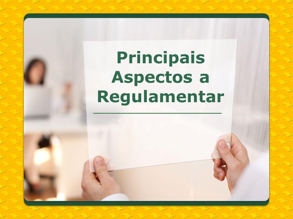 Principais Aspectos a Regulamentar