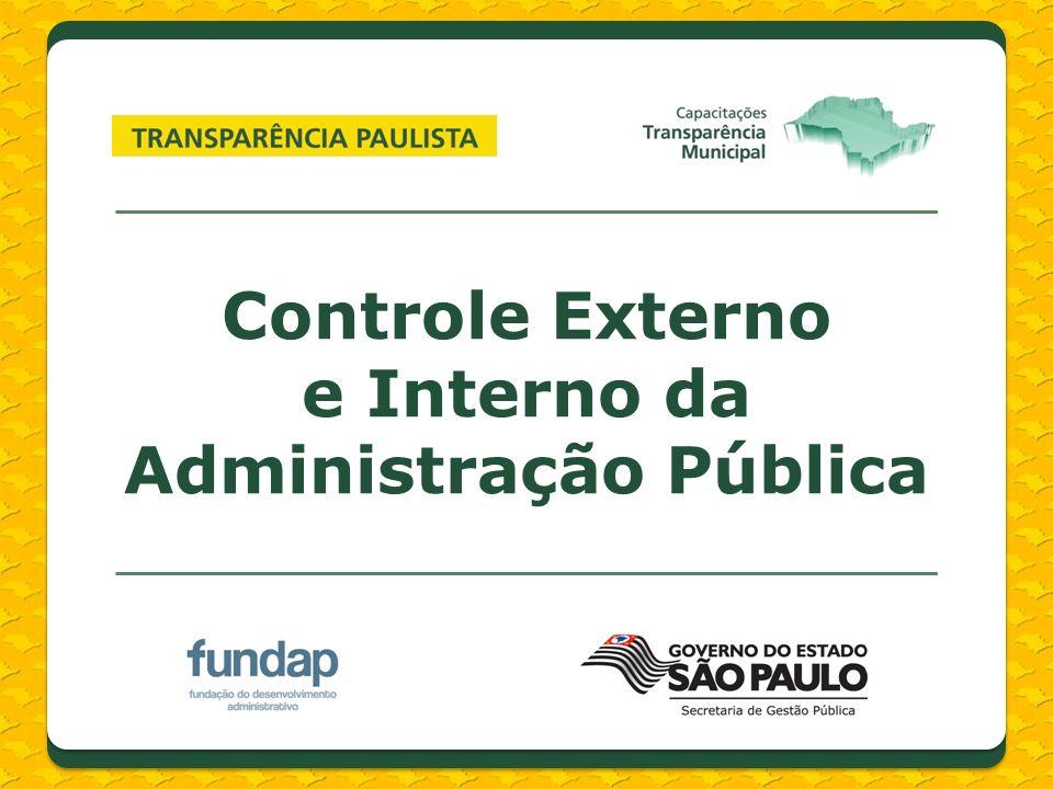 Controle Externo e Interno da Administração Pública