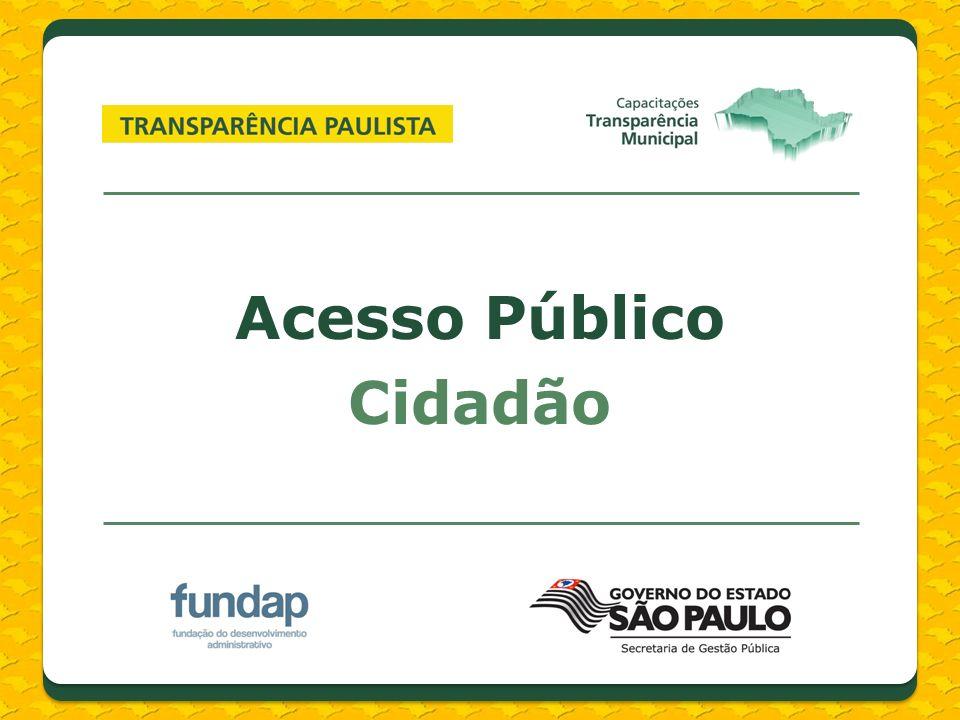 Links do menu lateral CADIN Municipal CADIN Estadual CADIN Municipal CADIN Estadual