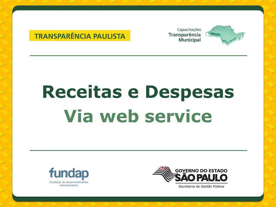 Receitas e Despesas Via web service