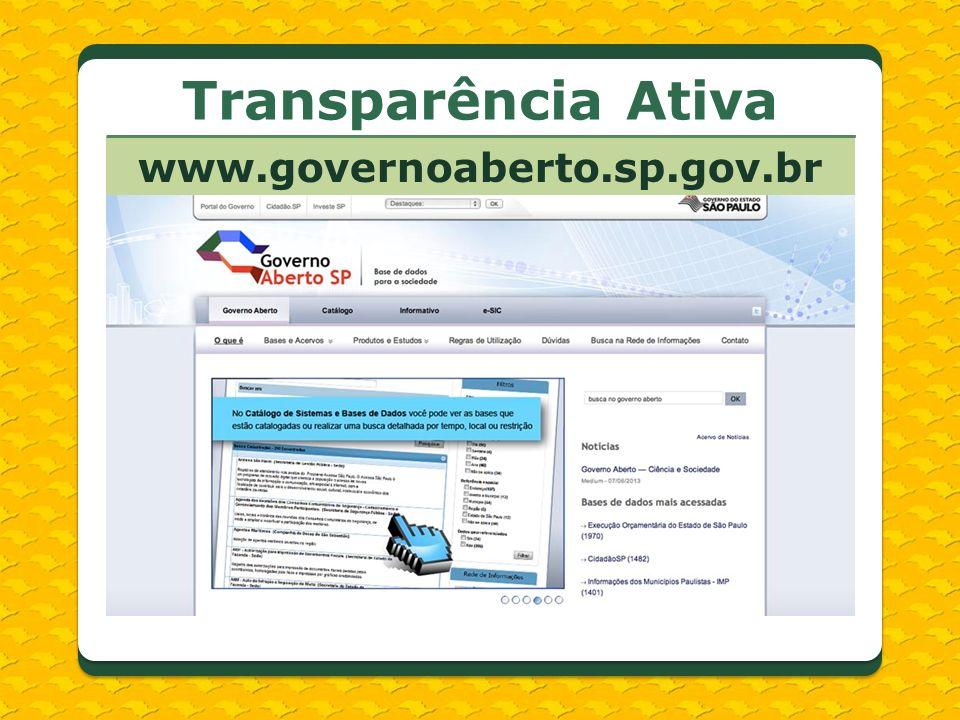 www.governoaberto.sp.gov.br Transparência Ativa