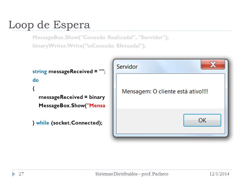 Loop de Espera MessageBox.Show(