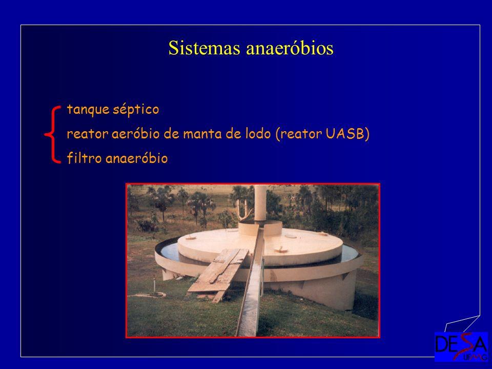 Sistemas anaeróbios tanque séptico reator aeróbio de manta de lodo (reator UASB) filtro anaeróbio