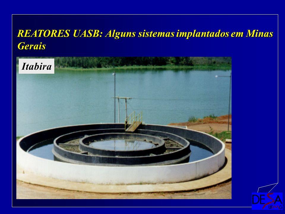Paulo Libânio REATORES UASB: Alguns sistemas implantados em Minas Gerais Itabira