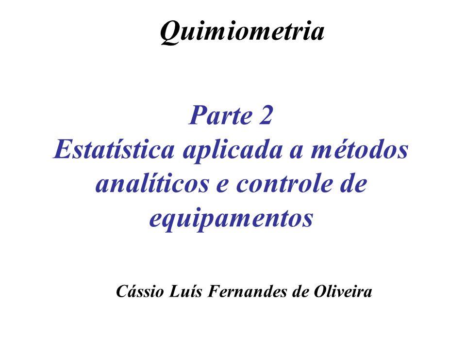 Cálculo do Intervalo de confiança A partir de um número limitado de medidas não se pode determinar a média real, µ, de uma população.