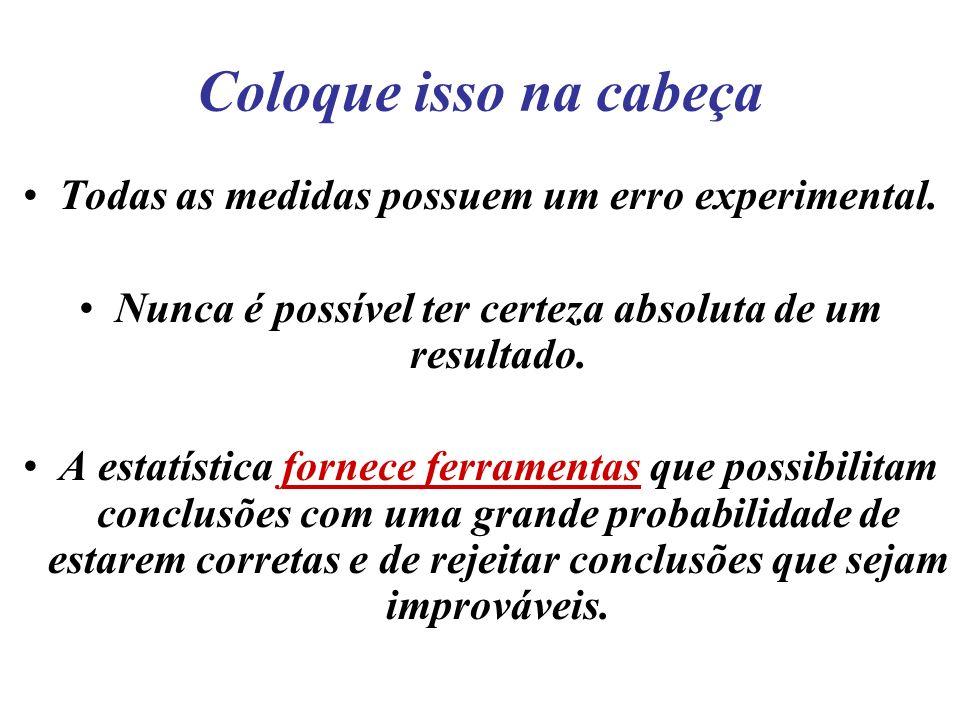 Exemplo de aplicação Passo 1- Calcular a média das amostras.