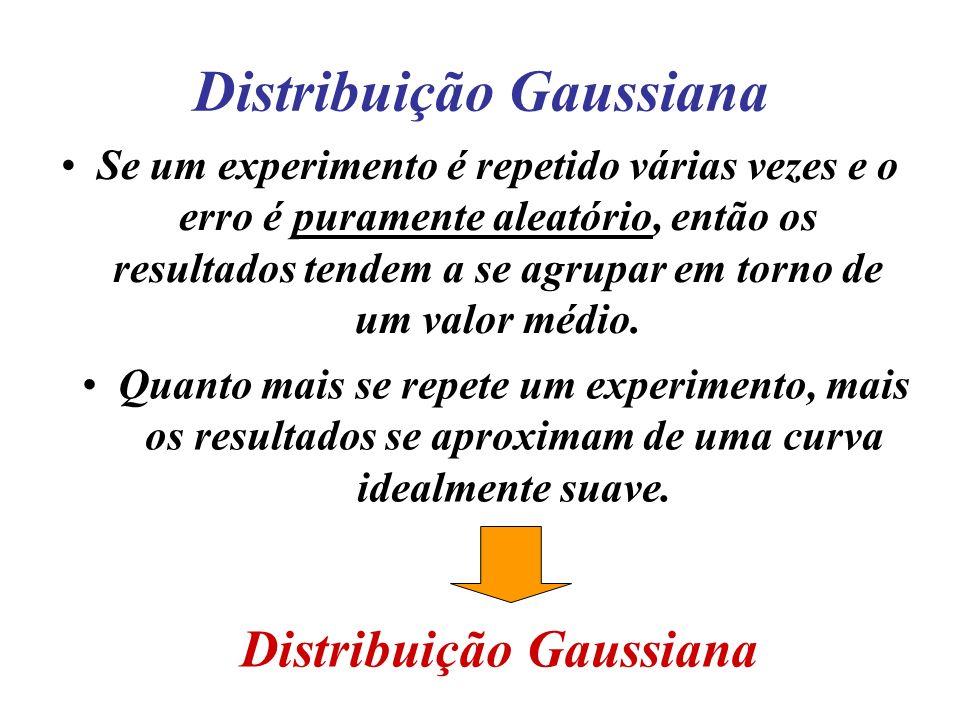 Distribuição normal e desvio padrão Quanto menor o desvio padrão maior é o agrupamento das medidas em torno da média = maior precisão.