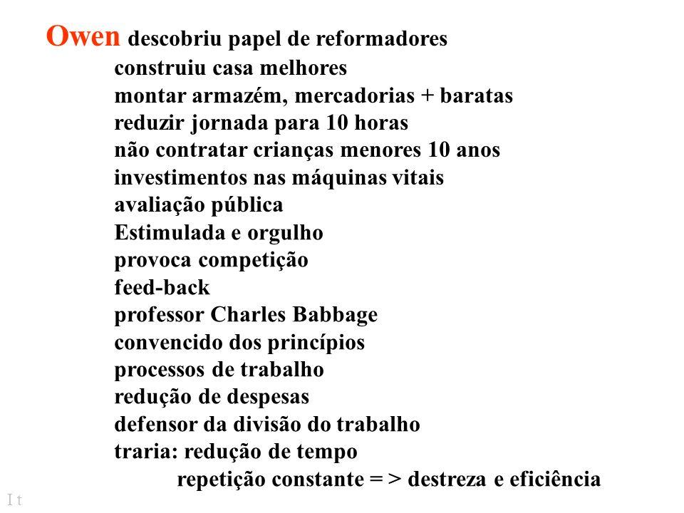 I t Teorias = relativ/ recentes: Rev. Industrial - séc. XVIII e XIX Abordagem sistemática= novas tecnologias, quantidades de materiais, concentração d