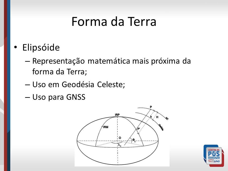 Forma da Terra Geóide: é a superfície equipotencial do campo gravimétrico da terra.