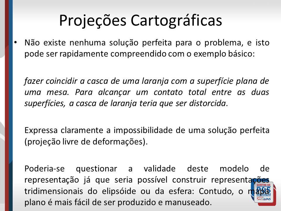 As representações de superfícies curvas em um plano envolvem: extensões ou contrações que resultam em distorções ou rasgos .