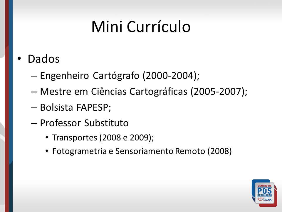 Experiência Desenvolvimento do SDC em Delphi e Access (2001-2002); Módulo de Construção de Boletim de Informações Cadastrais(2002-2003); Módulo de Detecção Semi-Automática de Detecção de Alterações(2003-2004); Otimização de Processos Semi-automáticos de Detecção de Alterações aplicados ao Cadastro Imobiliário(2005-2007); Sistemas Cadastrais 3D: Viabilidades para o Sistema Cadastral Brasileiro (2007- 2011?)