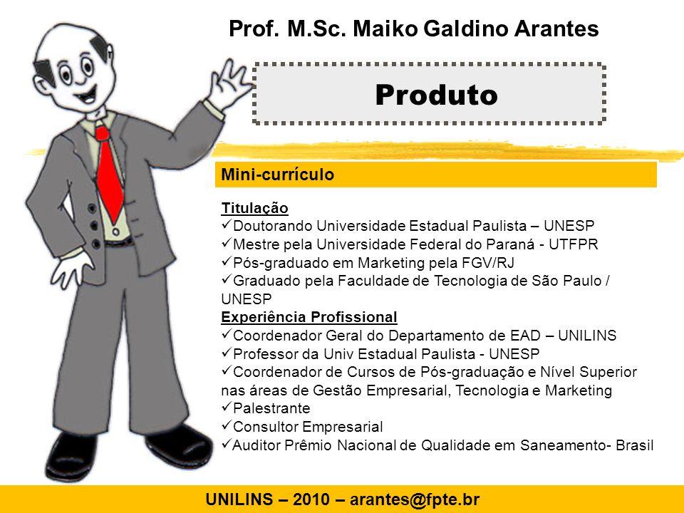Mini-currículo Titulação Doutorando Universidade Estadual Paulista – UNESP Mestre pela Universidade Federal do Paraná - UTFPR Pós-graduado em Marketin