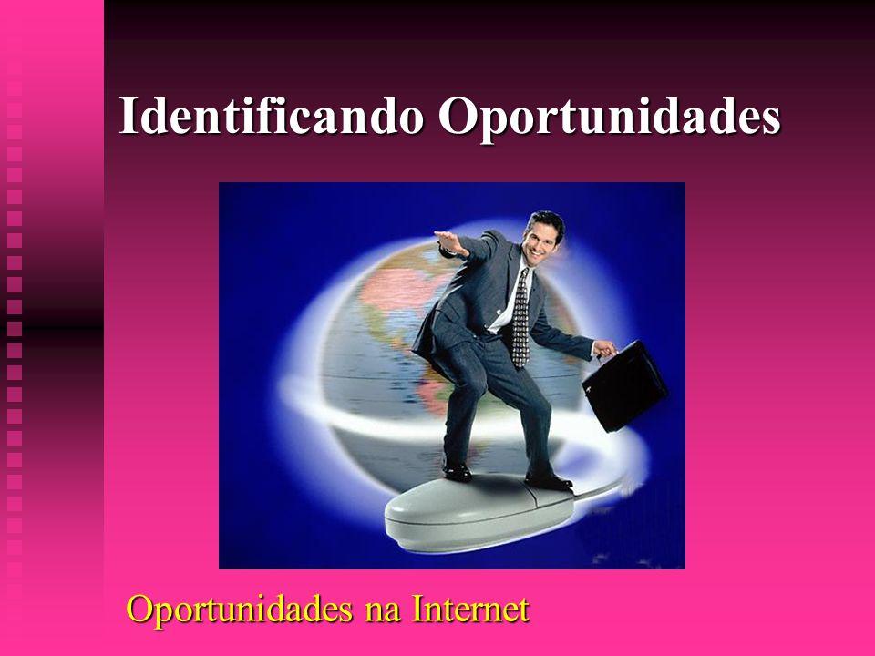 Identificando Oportunidades Oportunidades na Internet