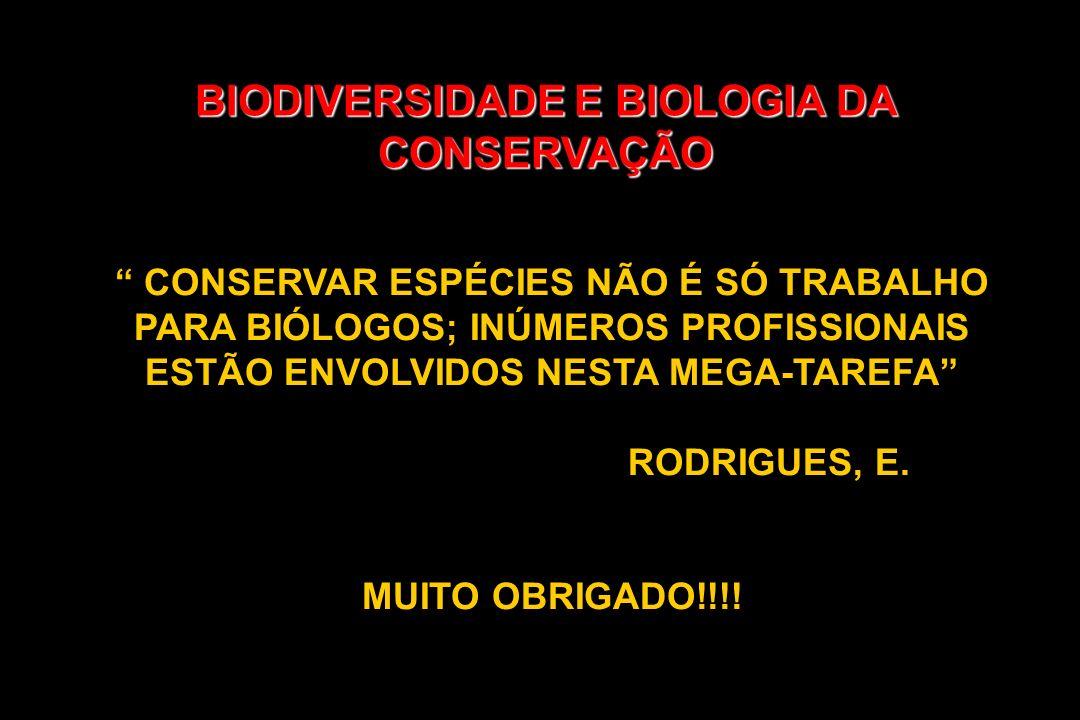 BIODIVERSIDADE E BIOLOGIA DA CONSERVAÇÃO CONSERVAR ESPÉCIES NÃO É SÓ TRABALHO PARA BIÓLOGOS; INÚMEROS PROFISSIONAIS ESTÃO ENVOLVIDOS NESTA MEGA-TAREFA