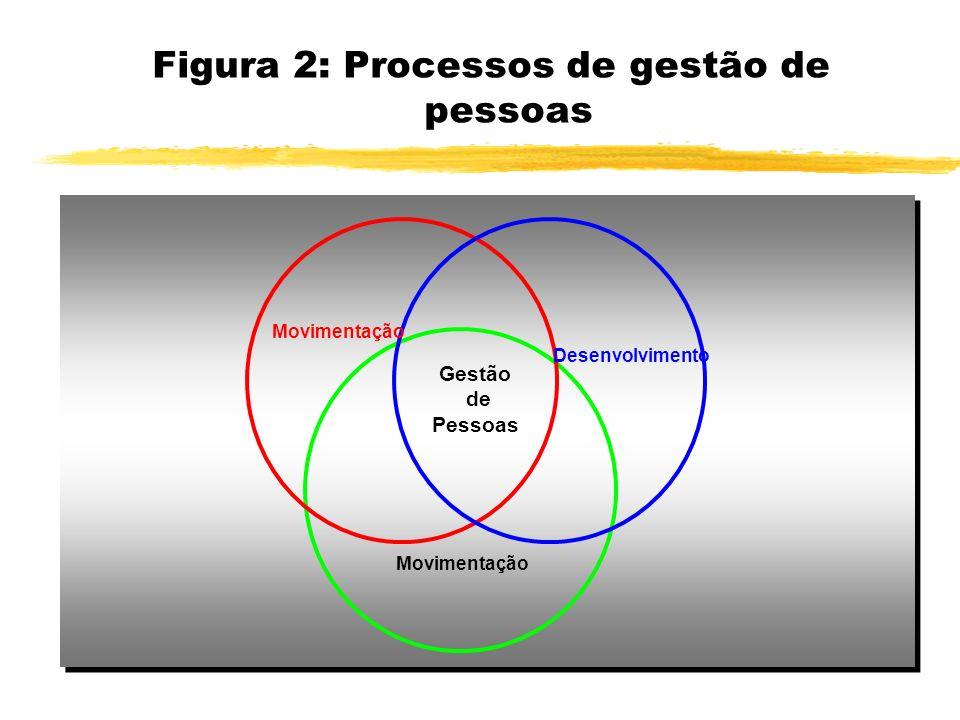 Figura 2: Processos de gestão de pessoas Desenvolvimento Movimentação Gestão de Pessoas