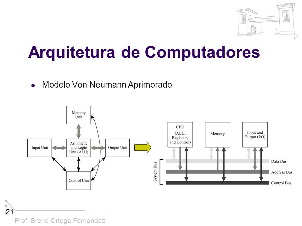 Prof. Breno Ortega Fernandez 21 Arquitetura de Computadores Modelo Von Neumann Aprimorado
