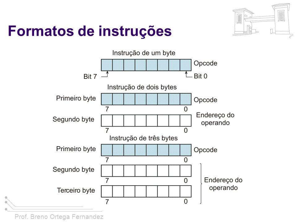 Prof. Breno Ortega Fernandez Formatos de instruções