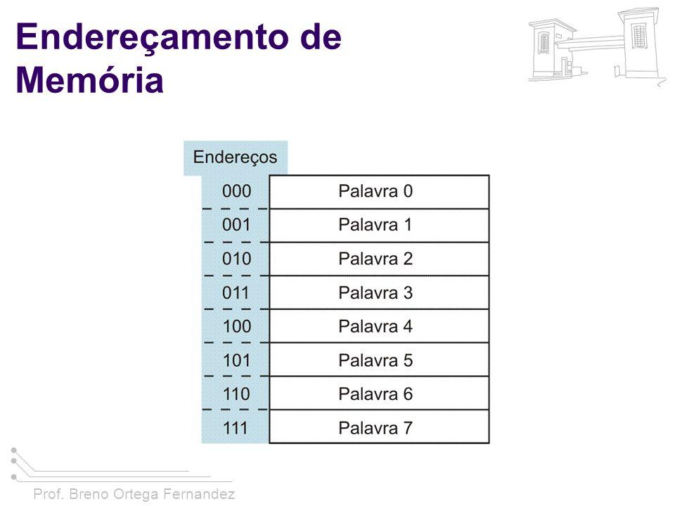 Prof. Breno Ortega Fernandez Endereçamento de Memória
