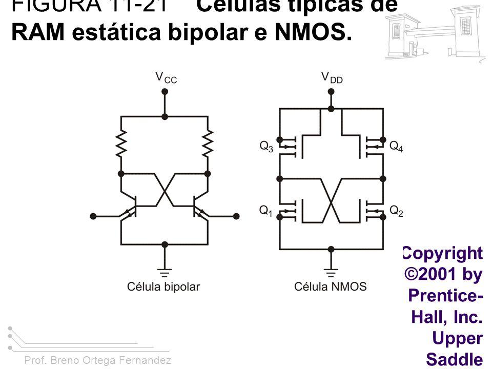 Prof. Breno Ortega Fernandez FIGURA 11-21 Células típicas de RAM estática bipolar e NMOS. Copyright ©2001 by Prentice- Hall, Inc. Upper Saddle River,