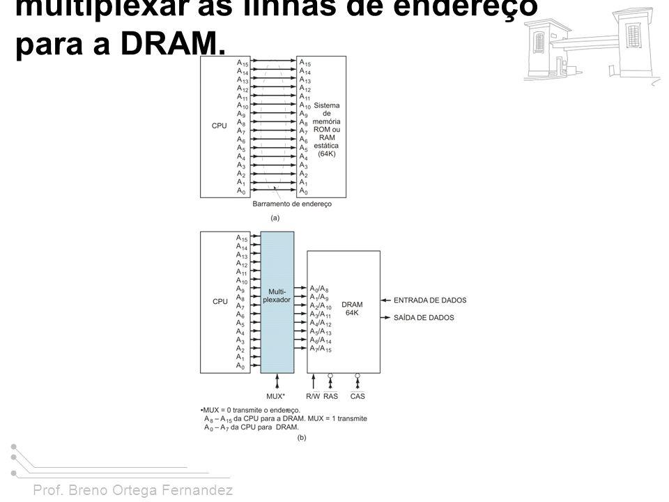 Prof. Breno Ortega Fernandez FIGURA 11-28 (a) O barramento de endereço da CPU acionando uma ROM ou uma RAM estática; (b) Os endereços da CPU acionam u