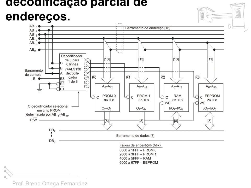 Prof. Breno Ortega Fernandez FIGURA 11-38 Um sistema com decodificação parcial de endereços.