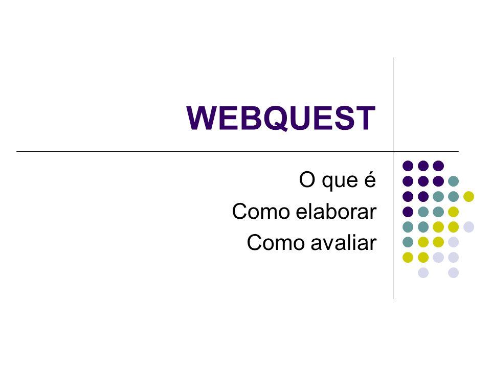 WEBQUEST O que é Como elaborar Como avaliar
