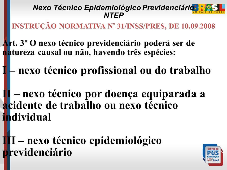 Nexo Técnico Epidemiológico Previdenciário NTEP a x d 966 x 21.580.976 RC= -------- = ------------------------ = 5,63 b x c 88.084 x 42.002 CID CNAE 6